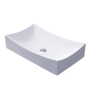 L-001 Bathroom Ceramic Rectangular Vessel Bathroom Sink Luxier
