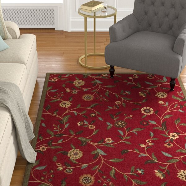 Bunyard Red Area Rug by Charlton Home
