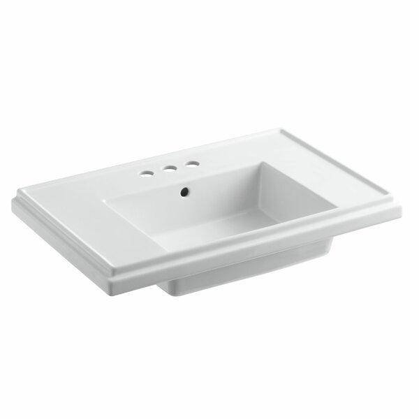 Tresham® Ceramic 30 Pedestal Bathroom Sink with Overflow by Kohler