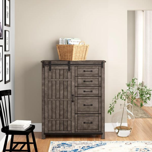 Kemmerer 5 Drawer Combo Dresser by Three Posts