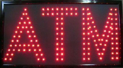 ATM LED Sign Hanging Lamp by NeoPlex