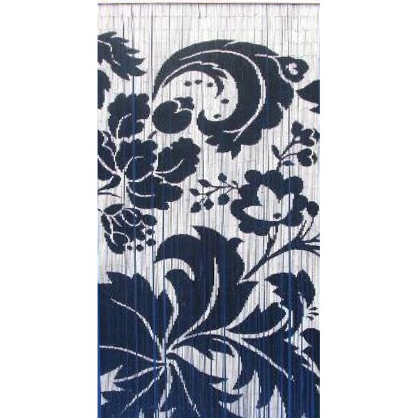 Floras Graphic Print & Text Semi-Sheer Single Curtain Panel by Bamboo54
