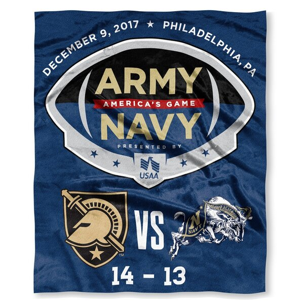NCAA Army va Navy 2017 Silk Touch Throw by Northwest Co.