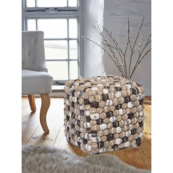 Marley Stone Square Handmade Pouf by Millwood Pines