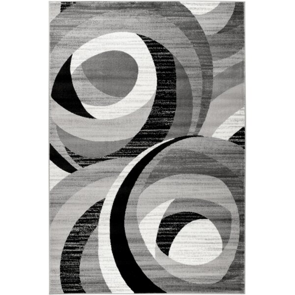 Calla Gray/Black Area Rug by Orren Ellis