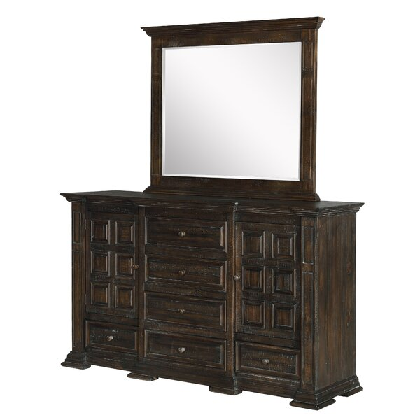 Mcsweeney 6 Drawer Combo Dresser with Mirror by Darby Home Co