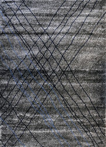 Grey/Blue Area Rug by Rug Tycoon