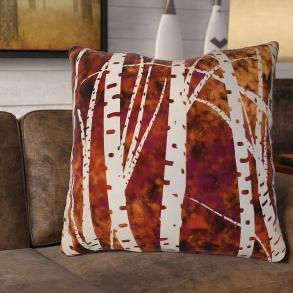Brookfield Birch Trees Floral Euro Pillow by Loon Peak