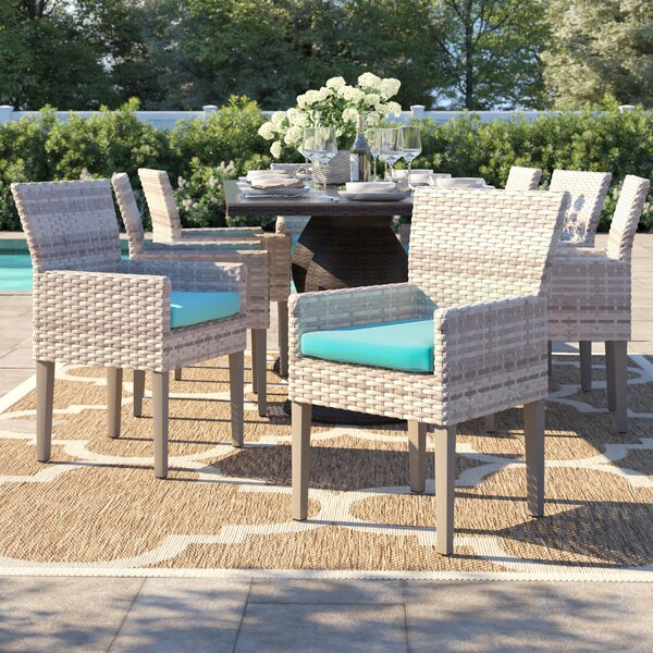 Falmouth Patio Dining Chair with Cushion (Set of 8) by Sol 72 Outdoor