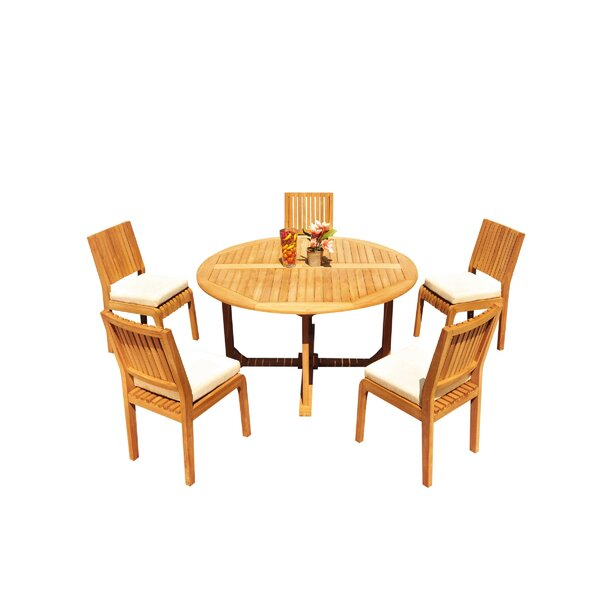Mastin 6 Piece Teak Dining Set