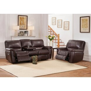 Deverell Reclining 2 Piece Leather Reclining Living Room Set World Menagerie