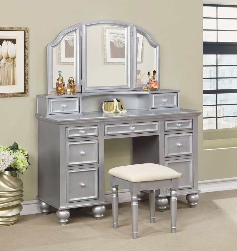 anthonyson transitional vanity set with mirror reviews 14446 | anthonyson transitional vanity set with mirror