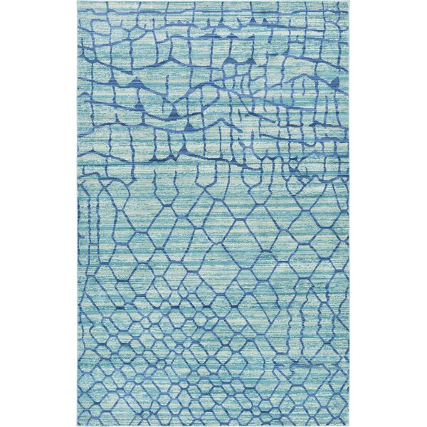 Rune Light Blue Area Rug by Bungalow Rose