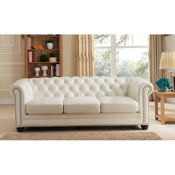 In Vogue Crissyfield Leather Chesterfield Sofa Amazing New Deals on