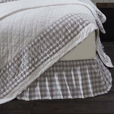 """August Grove Caulder Buffalo Check 16"""" Bed Skirt"""
