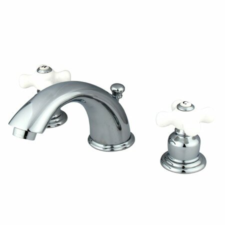 Magellan Widespread Bathroom Faucet with Double Porcelain Cross Handles by Elements of Design