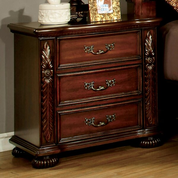 Garvey 3 Drawer Nightstand by Astoria Grand