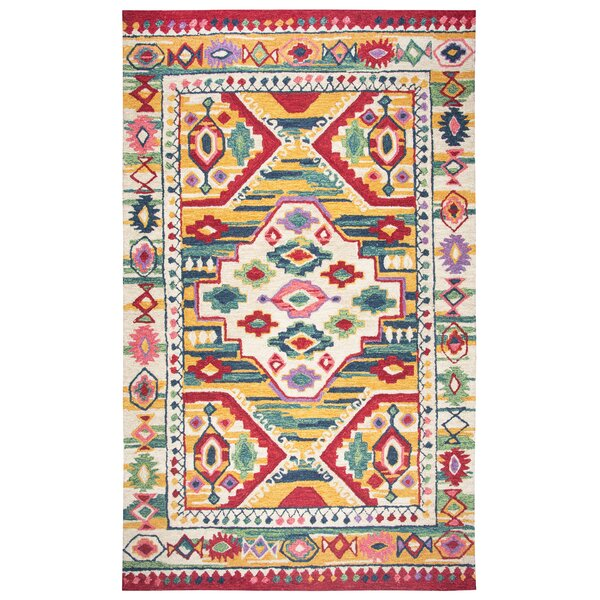 Duron Hand-Tufted Wool Natural Area Rug by Bungalow Rose