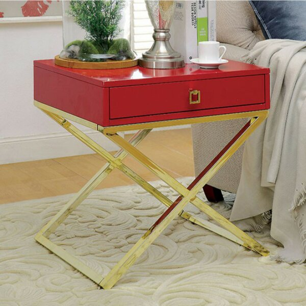 Furtado End Table with Storage by Everly Quinn