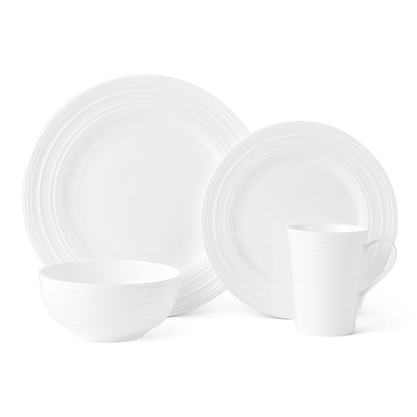 Ciara 16 Piece Bona China Dinnerware Set, Service for 4 (Set of 2) by Mikasa