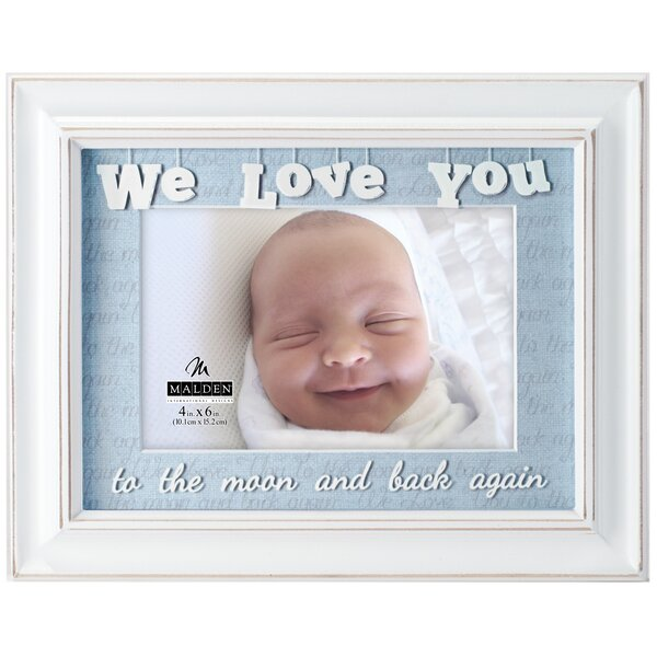 4 x 6 We Love You Matted Picture Frame by Malden