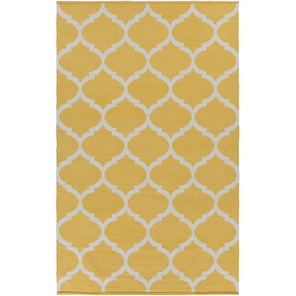 Bohannon Bright Yellow Geometric Area Rug by Andover Mills