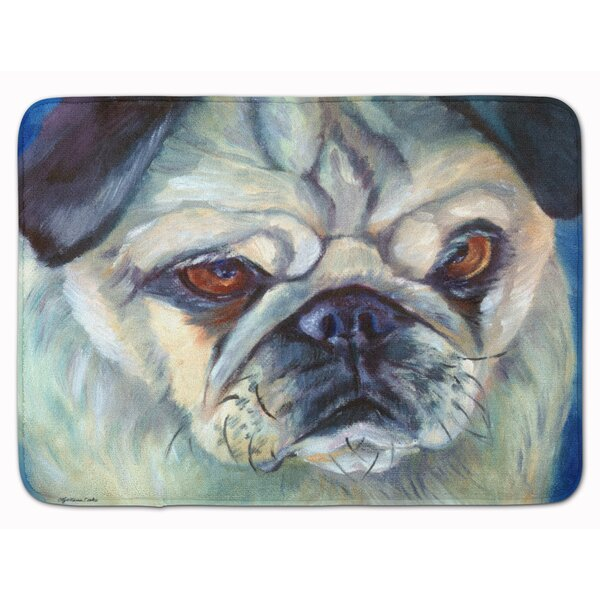 Pug in Thought Memory Foam Bath Rug by East Urban Home