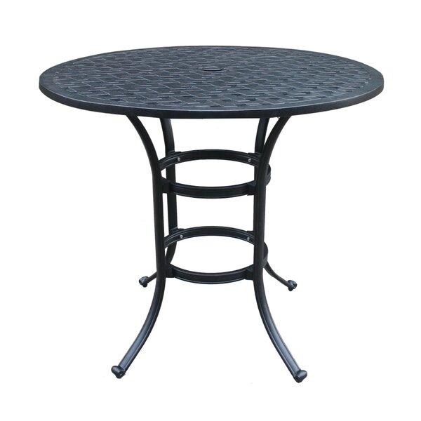Waddington Aluminum Bar Table by Fleur De Lis Living