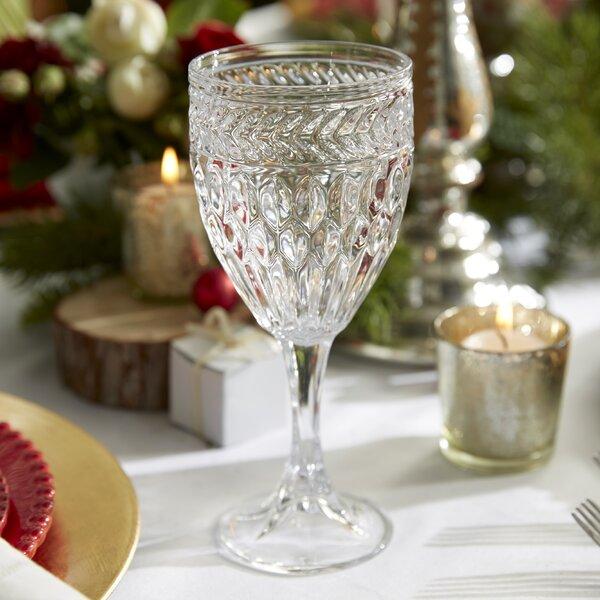 Symphony 9 oz. Wine Goblet (Set of 4) by Godinger Silver Art Co