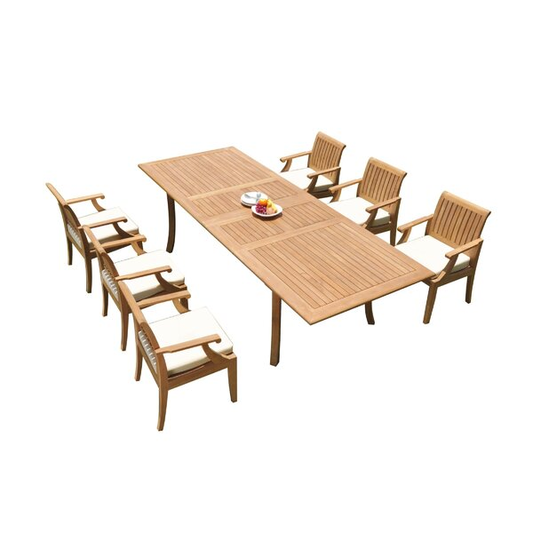 Dillan 7 Piece Teak Dining Set by Rosecliff Heights