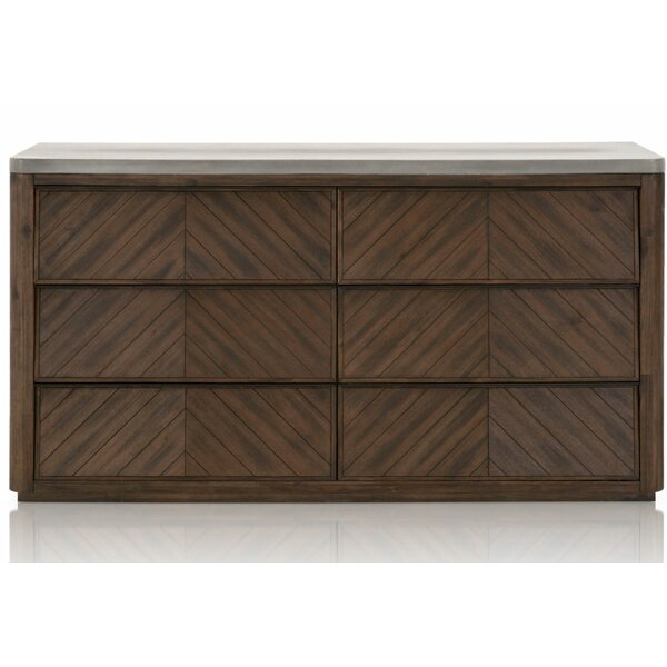 Rossmoor 6 Drawer Double Dresser by Union Rustic