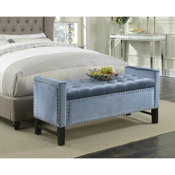 Carlie Upholstered Flip Top Storage Bench by Rosdorf Park Rosdorf Park