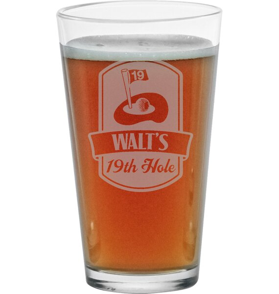 Personalized 19th Hole Pint Glass (Set of 4) by Susquehanna Glass