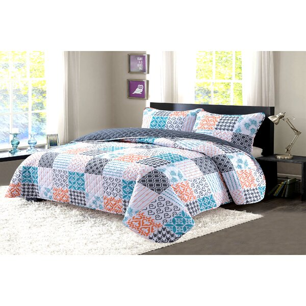 Fancy Reversible Quilt Set by Feather & Stitch NY