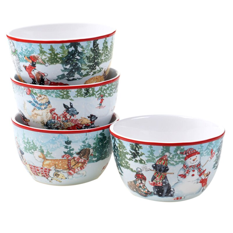 The Holiday Aisle Raynaud 22 Oz Special Delivery Dining Bowl Wayfair