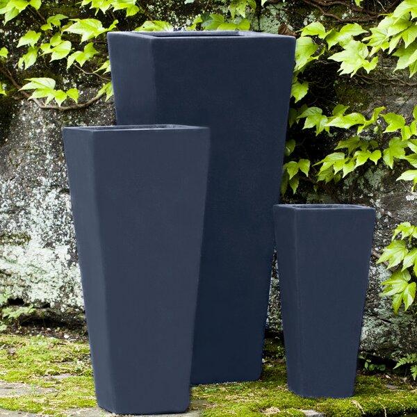 Pensford 3 Pieces Fiberglass Pot Planter Set by Orren Ellis