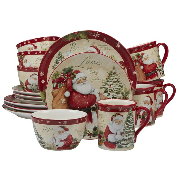 Gianna 16 Piece Dinnerware Set, Service for 4 by T