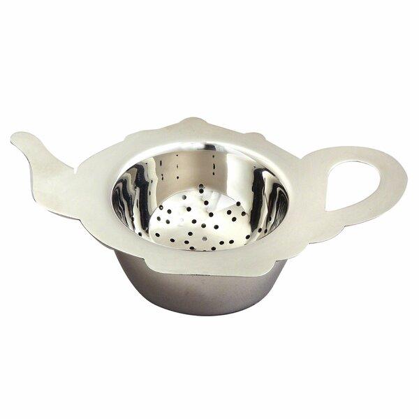 Elegance Stainless Steel Tea Pot Shaped Strainer by Best Desu, Inc.