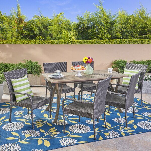 Giunta 7 Piece Dining Set by Highland Dunes