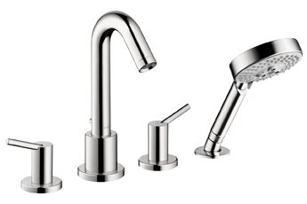 Talis S Two Handle Deck Mount Roman Tub Faucet with Shower Head by Hansgrohe
