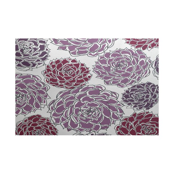 Neville Purple Indoor/Outdoor Area Rug by Zipcode Design