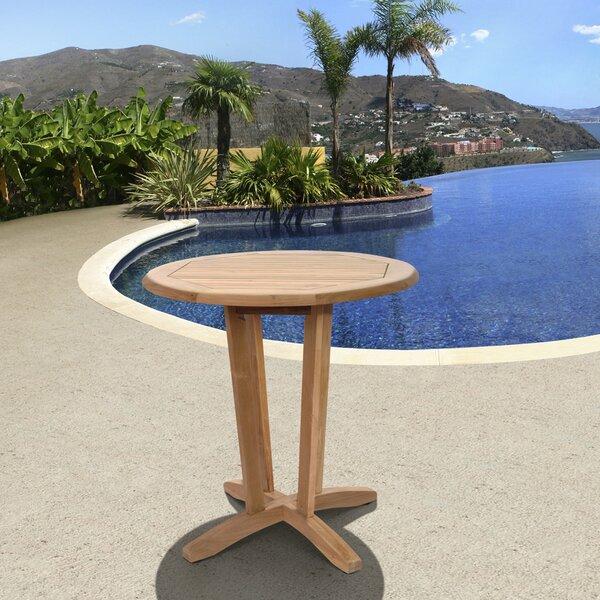 Budde International Solid Wood Side Table by Breakwater Bay