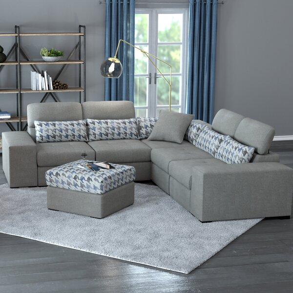 Shop Our Selection Of Evas Symmetrical L-Shaped Modular Sectional by Latitude Run by Latitude Run