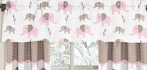 Elephant 54 Curtain Valance by Sweet Jojo Designs
