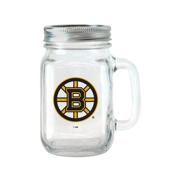 NHL Glass 16 oz. Mason Jar (Set of 2) by Boelter B