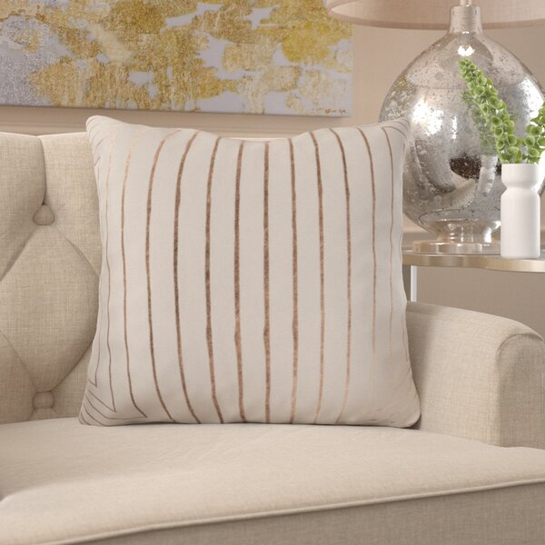 Caressa Neutral Cotton Throw Pillow by Willa Arlo Interiors