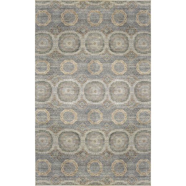 Hand-Knotted Gray/Blue Rug