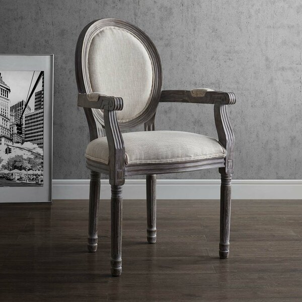 Vicente Vintage French Upholstered Dining Chair by Ophelia & Co.