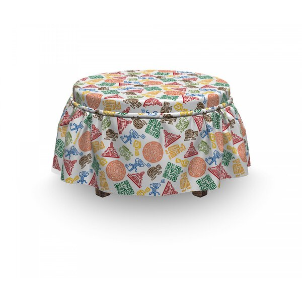 Orante Aztec Motif Ottoman Slipcover (Set Of 2) By East Urban Home