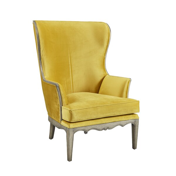Kourtney Wingback Chair by One Allium Way